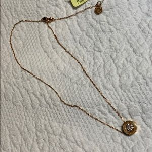 Michael Kors gold rhinestone necklace. NWT